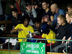 April 6, 2018 - Stockholm, SVERIGE - 180406 Sveriges publik under tennismatchen i Davis Cup mellan Sverige och Portugal den 6 April 2018 i Stockholm. (Credit Image: © Kenta JöNsson/Bildbyran via ZUMA Press)