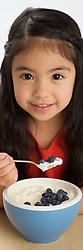 Isabella and yoghurt