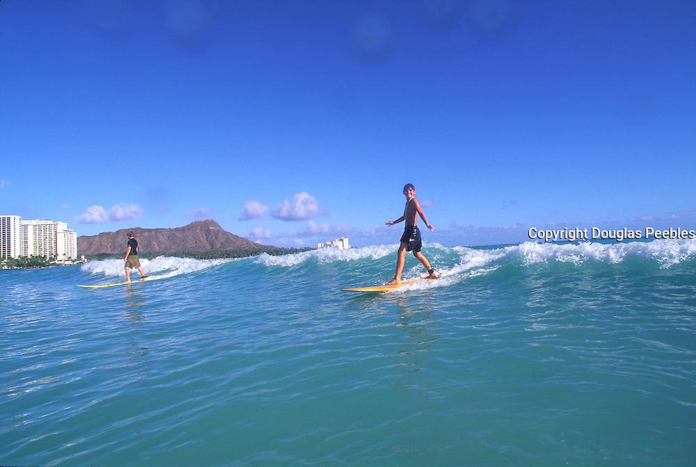 Surfing, Waikiki, Oahu, Hawaii<br />