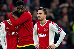 08-05-2019 NED: Semi Final Champions League AFC Ajax - Tottenham Hotspur, Amsterdam<br /> After a dramatic ending, Ajax has not been able to reach the final of the Champions League. In the final second Tottenham Hotspur scored 3-2 / Noussair Mazraoui #12 of Ajax, Nicolas Tagliafico #31 of Ajax