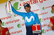 Podium, Alejandro Valverde (ESP - Movistar) during the 105th Tour de France 2018, Stage 11, Alberville - La Rosiere Espace Bernardo (108,5 km) on July 18th, 2018 - Photo Luca Bettini / BettiniPhoto / ProSportsImages / DPPI