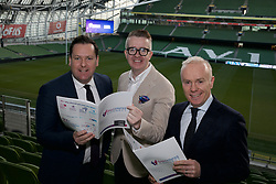 At the SFA Business Connect event are (L-R): Graham Byrne, SFA Chairman and MD, Cardinal Capital, David Meade, Leadership, Motivational Speaker and Mentalist and Richard Curran, MC.