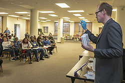 May 1, 2019 - Detroit, Michigan, U.S. - Detroit, Michigan - Matthew Yascolt of the Detroit Wayne Mental Health Authority trains residents at the Fifth Precinct Police-Community Relations Meeting on how to recognize an opioid overdose and administer naloxone to save a life. (Credit Image: © Jim West/ZUMA Wire)