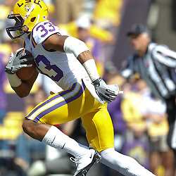 October 1, 2011; Baton Rouge, LA, USA;  LSU Tigers wide receiver Odell Beckham (33) against the Kentucky Wildcats during the fourth quarter at Tiger Stadium. LSU defeated Kentucky 35-7. Mandatory Credit: Derick E. Hingle-US PRESSWIRE / © Derick E. Hingle 2011