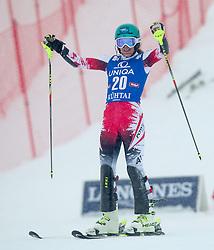 29.12.2014, Hohe Mut, Kühtai, AUT, FIS Ski Weltcup, Kühtai, Slalom, Damen, 2. Durchgang, im Bild Carmen Thalmann (AUT) // Carmen Thalmann of Austria reacts after 2nd run of Ladies Giant Slalom of the Kuehtai FIS Ski Alpine World Cup at the Hohe Mut Course in Kuehtai, Austria on 2014/12/29. EXPA Pictures © 2014, PhotoCredit: EXPA/ JFK