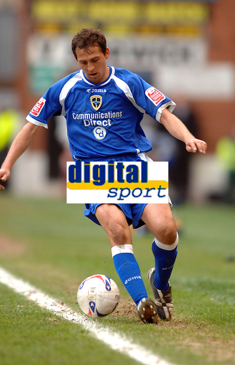 Photo: Paul Greenwood.<br /> Burnley FC v Cardiff City. Coca Cola Championship. 09/04/2007.<br /> Cardiff's Michael Chopra fails to keep the ball in play on an error filled day for Cardiff
