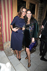 Left to right, ALICE KODELL and CARMEN HAID at a party to celebrate the launch of Atelier-Mayer.com held at 83 Princedale Road, London W11 on 15th January 2009.