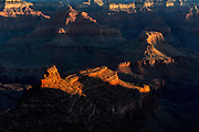 Dawn Light Paints a Mesa, Grand Canyon National Park - South Rim. Photographic fine art print for sale or licensed use.