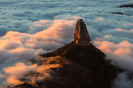 Inversion layer, Mount Hayden from Point Imperial, North Rim, Grand Canyon, National Park, Arizona
