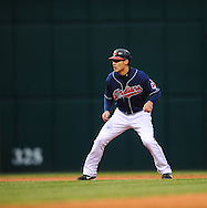 The Seattle Mariners defeated the Cleveland Indians 7-2 on April 29, 2008 at Progressive Field in Cleveland..Grady Sizemore of Cleveland takes his lead after a double.
