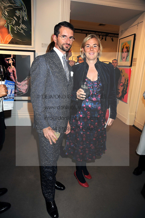 COUNT & COUNTESS MANFREDIE DELLA GHERARDESCA at the Spear's Wealth Management Awards held at Sotheby's, 34-35 New Bond Street, London on 29th September 2008.