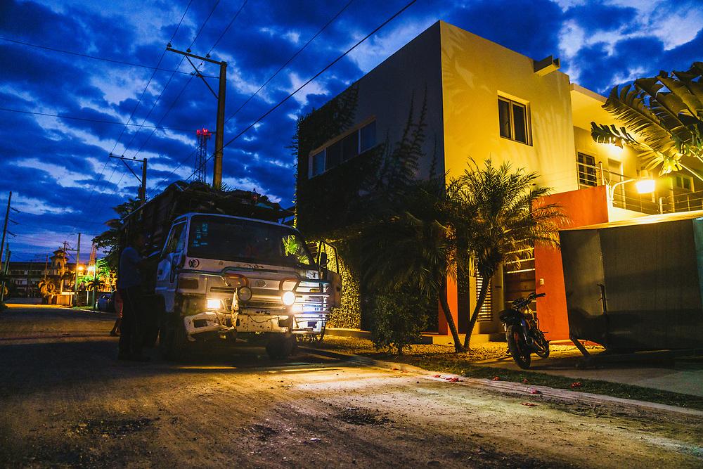 Trash truck, Cabarete, Dominican Republic.