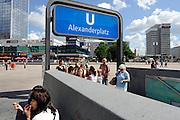 BERLIN, GERMANY - 26/06/2008 - TRAVEL, Alexanderplatz..cfr. Berlin, Germany, capital, ..©Christophe VANDER EECKEN