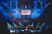 Ellie Goulding and guests performing for the 'Streets of London' charity
