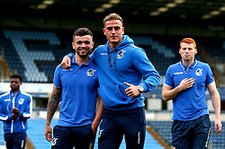 Dominic Telford of Bristol Rovers and Jonny Burn of Bristol Rovers arrive at Adam's Park for the Checkatrade Trophy Match against Wycombe Wanderers - Mandatory by-line: Robbie Stephenson/JMP - 29/08/2017 - FOOTBALL - Adam's Park - High Wycombe, England - Wycombe Wanderers v Bristol Rovers - Checkatrade Trophy
