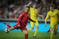 March 22, 2019 - Na - Lisbon, 03/22/2019 - The Portuguese Football Team received this afternoon their Ukrainian counterpart at the Estádio da Luz in Lisbon, in the Group B game, in the qualifying round for the 2020 European Championship. Cristiano Ronaldo; Mykola Matviyenko  (Credit Image: © Atlantico Press via ZUMA Wire)