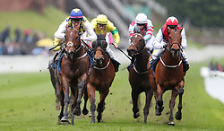 Merhoob ridden by Liam Keniry on their way to victory in the Gateley PLC Handicap during Boodles Ladies Day at Chester Racecourse.