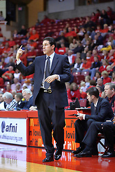 18 November 2007: Coach Tim Jankovich.  Illinois State Redbirds defeated the Seahawks of the University of North Carolina - Wilmington 89-73 on Doug Collins Court in Redbird Arena on the campus of Illinois State University in Normal Illinois.