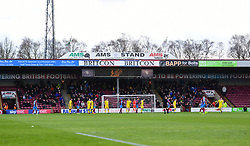 Bristol Rovers fans in the away end. - Mandatory by-line: Alex James/JMP - 09/03/2019 - FOOTBALL - Glanford Park - Scunthorpe, England - Scunthorpe United v Bristol Rovers - Sky Bet League One