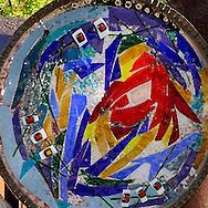 Public art detail in downtown Glenwood Springs, Colorado, USA