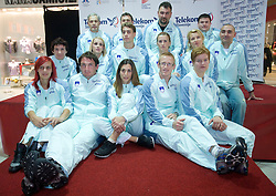Athletes at fashion show of new jerseys of Slovenian Athletic National Team, on October 28, 2008, in Mercator center Siska, Ljubljana, Slovenia. (Photo by Vid Ponikvar / Sportal Images).