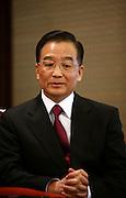 28 March 2006 - Beijing, China - Chinese Premier Wen Jiabao speaks during an interview in Zhongnanhai, Beijing's leaders residence in Beijing.