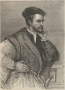 Jacques Cartieer (1491-1557) French navigator and explorer and cartographer who claimed Canada for France.