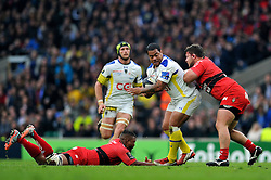 John Ulugia of Clermont Auvergne - Photo mandatory by-line: Patrick Khachfe/JMP - Mobile: 07966 386802 02/05/2015 - SPORT - RUGBY UNION - London - Twickenham Stadium - ASM Clermont Auvergne v RC Toulon - European Rugby Champions Cup Final