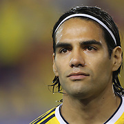 Radamel Falcao, Colombia, during the Colombia Vs Canada friendly international football match at Red Bull Arena, Harrison, New Jersey. USA. 14th October 2014. Photo Tim Clayton