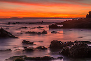Crystal Cove State Beach Rocky Coastline at Sunset
