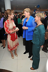Left to right, HRH PRINCESS HAYA OF JORDAN, CLARE BALDING and ALICE ARNOLD at the launch of the 2009 Derby Festival in the presence of HRH Princess Haya of Jordan in aid of the charity Starlight held at the Kensington Roof Gardens, 99 Kensington High Street, London W8 on 12th May 2009.