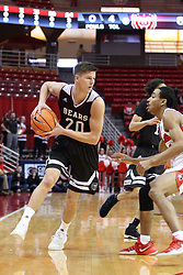 07 January 2018:  Madison Williams defends Ryan Kreklow during a College mens basketball game between the Missouri State Bears and Illinois State Redbirds in Redbird Arena, Normal IL