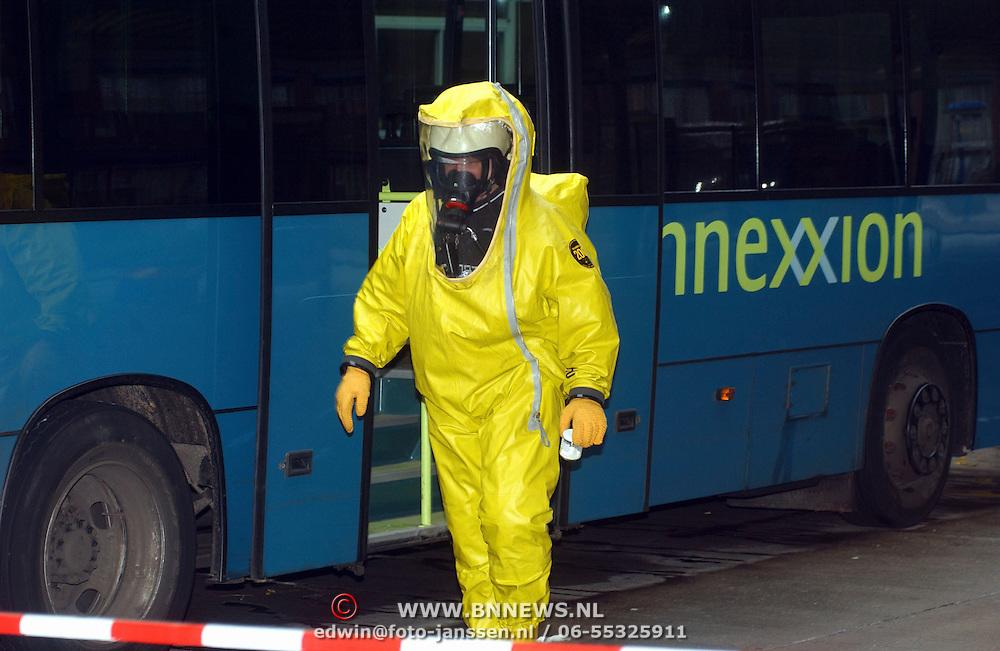 Verdacht poeder in bus Connexxion busstation Huizen