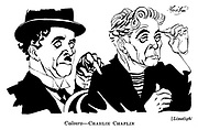 Punch cartoons by Robert Sherriffs..Film Review ; ..Limelight ;  Charlie Chaplin..