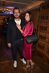 Lisa Snowdon and George Smart at the Fortnum & Mason Food and Drink Awards, Fortnum & Mason Food and Drink Awards, London, England. 10 May 2018.