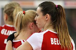 04.01.2014, Atlas Arena, Lotz, POL, FIVB, Damen WM Qualifikation, Polen vs Spanien, im Bild Anna WERBLINSKA (POL), Izabela BELCIK (POL) // Anna WERBLINSKA (POL), Izabela BELCIK (POL) during the ladies FIVB World Championship qualifying match between Poland and Spain at the Atlas Arena in Lotz, Poland on 2014/01/04. EXPA Pictures © 2014, PhotoCredit: EXPA/ Newspix/ Tomasz Jastrzebowski<br /> <br /> *****ATTENTION - for AUT, SLO, CRO, SRB, BIH, MAZ, TUR, SUI, SWE only*****