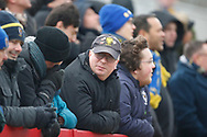 Wimbledon fans during the EFL Sky Bet League 1 match between Accrington Stanley and AFC Wimbledon at the Fraser Eagle Stadium, Accrington, England on 1 February 2020.