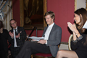, ARTHUR HOUSEThe Literary Review Bad Sex in Fiction Award 2014. The In and Out ( Naval and Military ) Club, 4 St. James's Sq. London SW1. 3 December 2014.