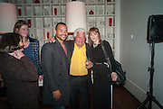 MICHAEL UNDERWOOD; ANTONIO CARLUCCIO; KATE POLLARD, Launch party for the publication of Antonio Carluccio's memoirs, A Recipe for Life, . Carluccio's in Covent Garden Garrick St. London.  26 September 2012