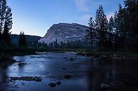 Lembert dome rises above Lyell fork of Tuolumne river, Yosemite national park, California, USA