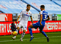 Leeds United's Mateusz Klich plays a ball round Wigan Athletic's Antonee Robinson<br /> <br /> Photographer Alex Dodd/CameraSport<br /> <br /> The EFL Sky Bet Championship - Wigan Athletic v Leeds United - Sunday 4th November 2018 - DW Stadium - Wigan<br /> <br /> World Copyright © 2018 CameraSport. All rights reserved. 43 Linden Ave. Countesthorpe. Leicester. England. LE8 5PG - Tel: +44 (0) 116 277 4147 - admin@camerasport.com - www.camerasport.com