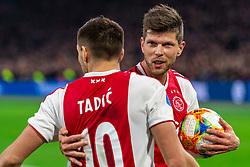 13-03-2019 NED: Ajax - PEC Zwolle, Amsterdam<br /> Ajax has booked an oppressive victory over PEC Zwolle without entertaining the public 2-1 / Dusan Tadic #10 of Ajax, Klaas Jan Huntelaar #9 of Ajax
