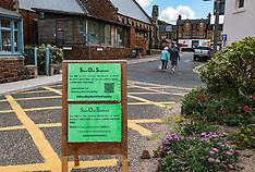 Campaign against Covid-19 carpark, North Berwick, 20 July 2020
