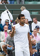 WIMBLEDON - GB -  4th July 2016: The Wimbledon Tennis Championship continues at the All England Lawn Tennis Club in S.E. London.<br /> <br /> Richard Gasquet vs Jo-Wilfried Tsonga<br /> ©Ian Jones/Exclusivepix Media