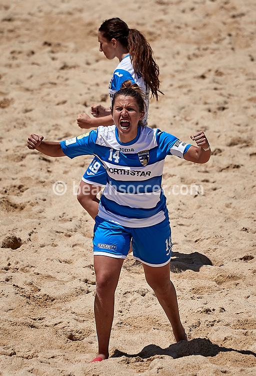 NAZARE, PORTUGAL - JUNE 7: Aida Xhaxho of BSC Terracina Femminile during the Euro Winners Cup Nazaré 2019 at Nazaré Beach on June 7, 2019 in Nazaré, Portugal. (Photo by Jose M. Alvarez)