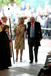 Nicola and George Brooksbank arrive at the wedding of Princess Eugenie to Jack Brooksbank at St George's Chapel in Windsor Castle.