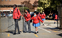 South Africa - Pretoria - 06 July 2020 - Prosperitus Secondary School pupils come out of school after returning to class on Monday.  <br /> <br /> Picture: Thobile Mathonsi/African News Agency(ANA)