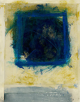Painting of a blue square.