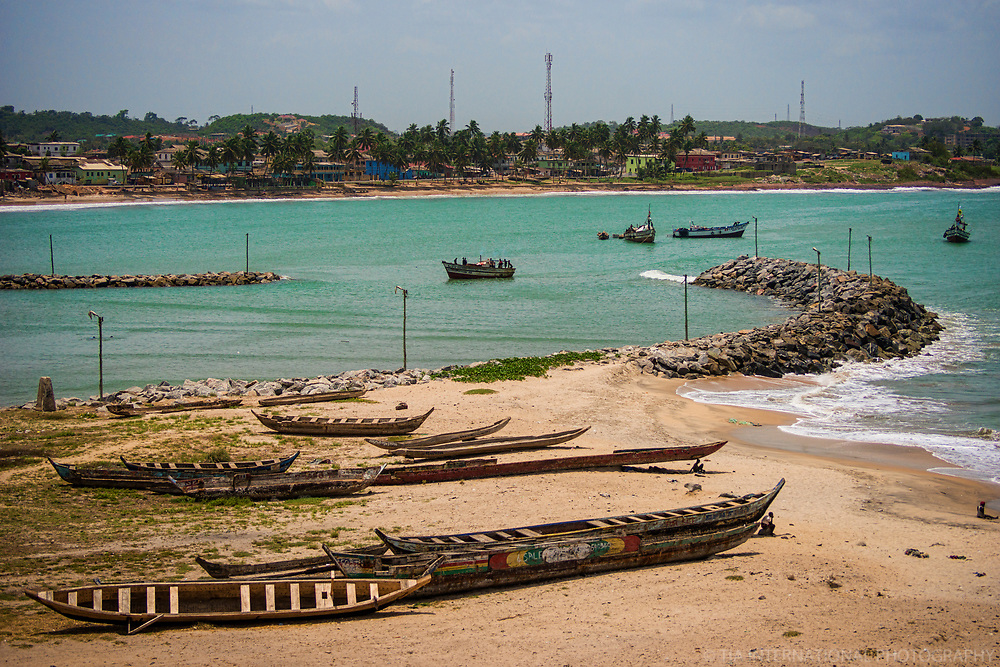 Boat Entering Elmina Canal