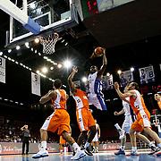 Anadolu Efes's Stephane Lasme (C) during their Turkish Basketball League match Anadolu Efes between istanbul BSB at Abdi Ipekci Arena in Istanbul Turkey on Sunday 16 November 2014. Photo by Aykut AKICI/TURKPIX